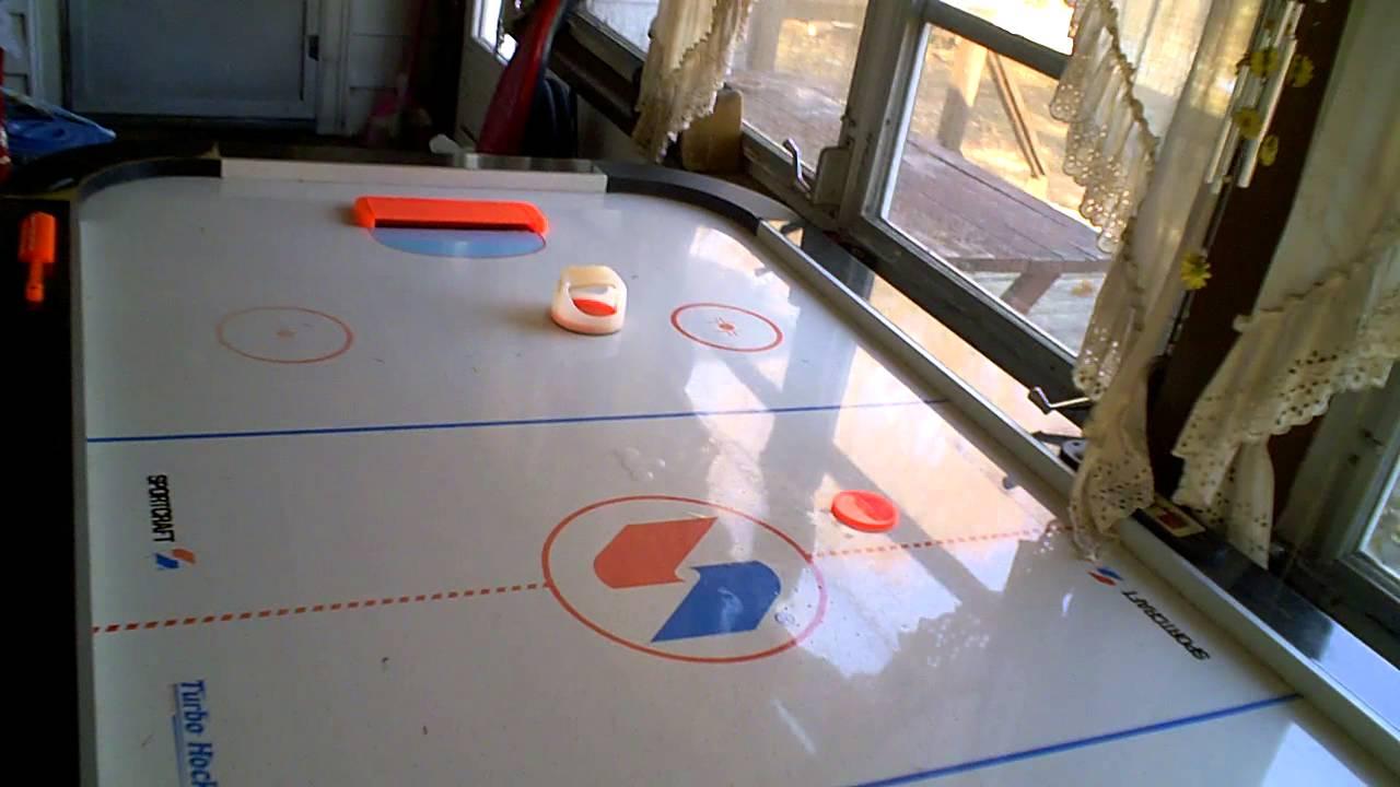 Air Hockey Table YouTube - Sportcraft turbo air hockey table