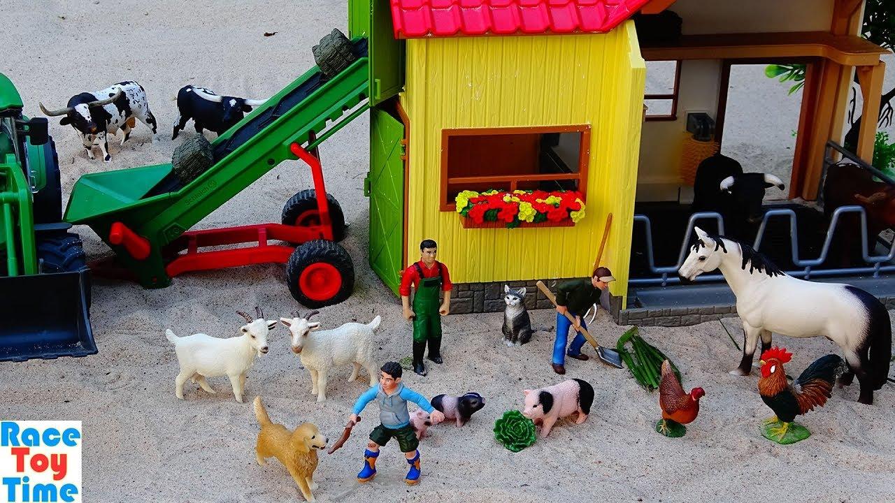 Schleich Farmer with Goat Playset