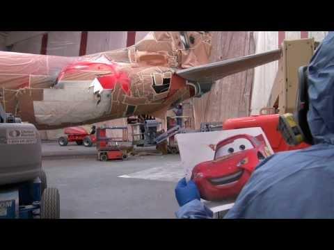 Painting 'The Adventure of Disneyland Resort' - Alaska Airlines 5th Disneyland-themed Aircraft