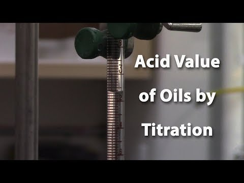 Acid Value of Oils by Titration for Biodiesel