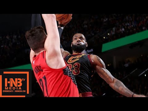 Cleveland Cavaliers vs Portland Trail Blazers Full Game Highlights / March 15 / 2017-18 NBA Season