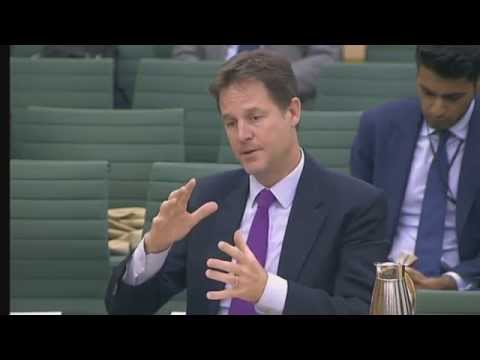 Privacy and Security hearing - Nick Clegg - Truthloader
