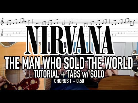 The Man Who Sold The World - Nirvana (Tutorial + Tabs) w/SOLO - YouTube