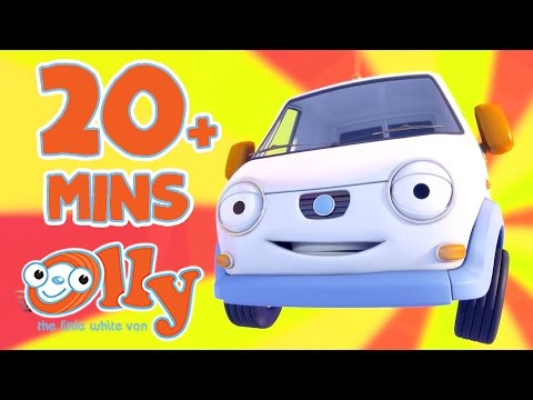 Olly The Little White Van - Bazza is in Big Trouble | 20+ Minutes with Olly
