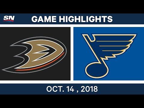 NHL Highlights | Ducks vs. Blues - Oct. 14, 2018