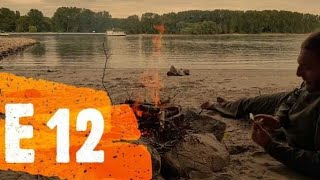 "Urban Nature Canoe Adventure Trip. Travel 750 km in 50 days. Episode twelve. ""FIRST CAMPFIRE"""