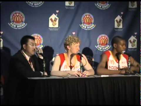 9848a75a2d07 2006 McDonald s All-American Post Game Press Conference at SDSU s Cox Arena