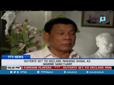 Duterte set to declare panatag shoal as marine sanctuary