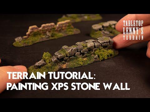 Terrain Tutorial: Painting Foam Stone Wall / Pencil Engraving