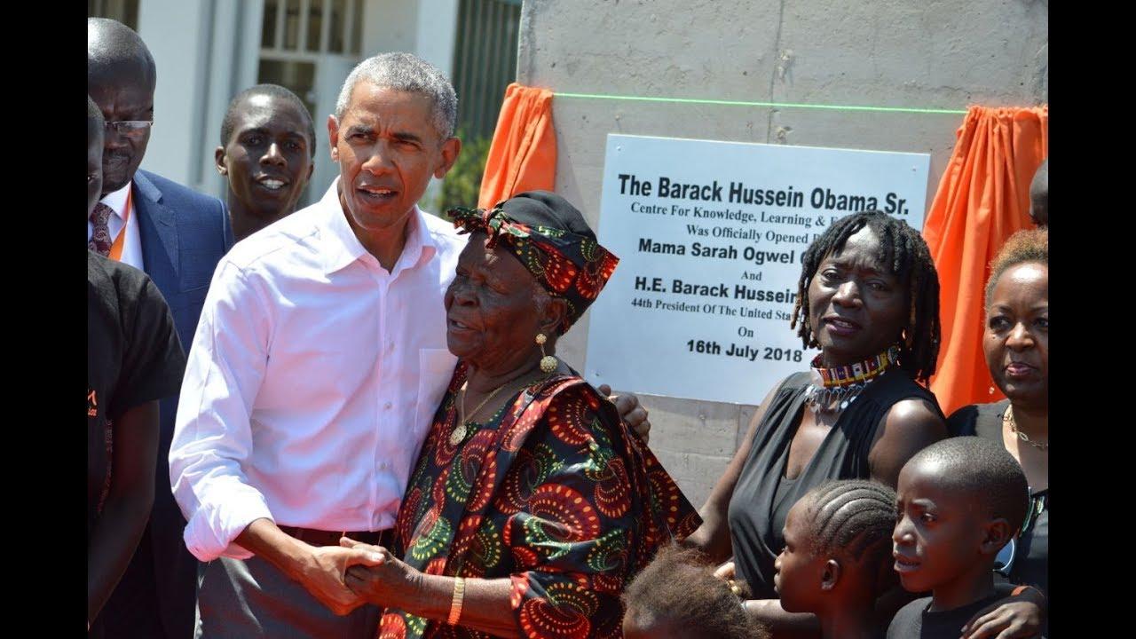 Barack Obama officially unveils the Sauti Kuu centre in Kogelo