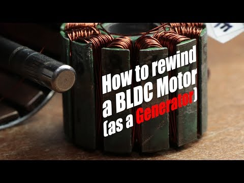 How to rewind a BLDC Motor (as a Generator) - YouTube