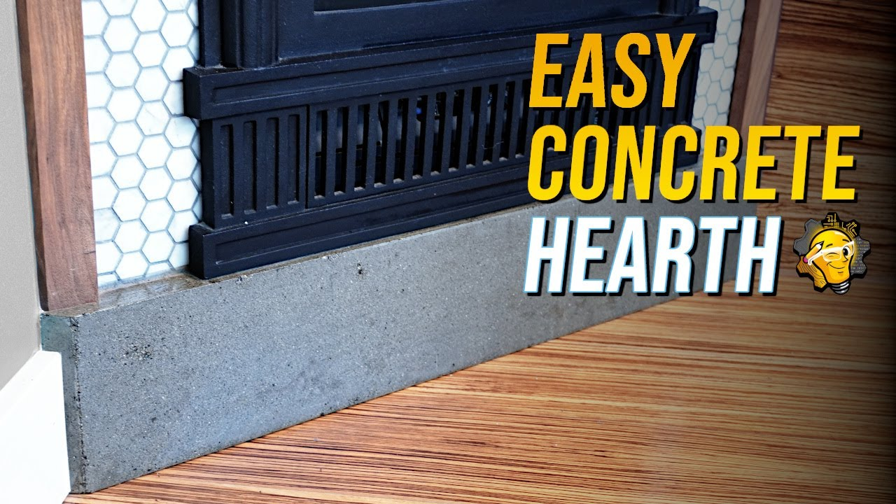 simple diy concrete hearth youtube