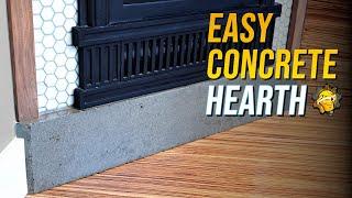 Simple DIY Concrete Hearth