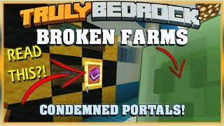 Truly Bedrock S1 EP22 Broken Farms and Condemned Portals!? [ Minecraft, MCPE, Bedrock Edition ]
