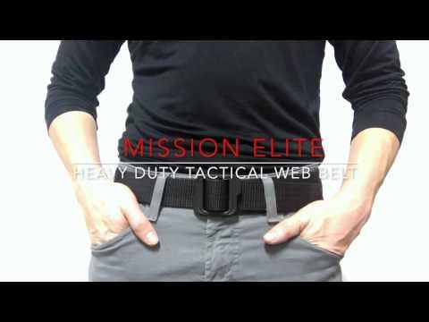 MISSION ELITE - Heavy Duty Tactical Web Belt