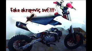 [ Test + unboxing ] silencieux réplica akrapoviç sur dirt bike 140 yx