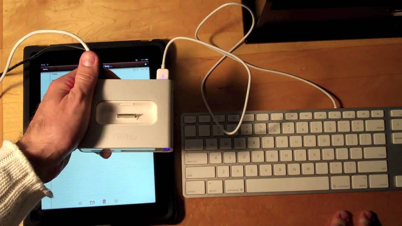 Apple Ipad Using A Powered Usb Hub Youtube