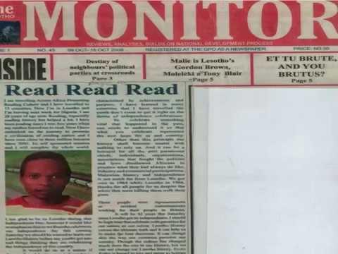 Lesotho: Mass media | EISA Maseru Cleo Bonny reading ambassador