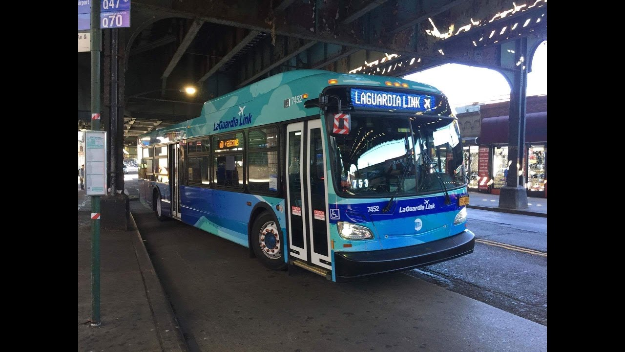 mta bus  on board new flyer xd40   7453  q70  select bus