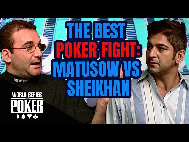 Mike Matusow vs Shawn Sheikhan Epic Fight at World Series of Poker