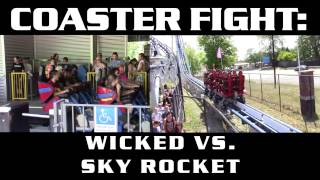 Wicked vs. Sky Rocket - COASTER FIGHTS!