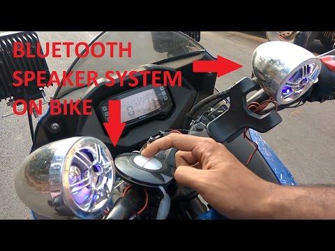 Bluetooth Speaker System on Bike Review India - Suzuki Gixxer SF FI