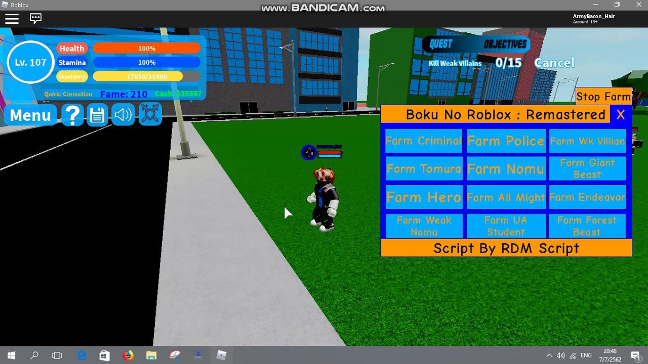 Boku No Roblox Remastered Script Auto Farm Roblox Boku No Roblox Script Admin Menu How To Get Robux For Free In Roblox