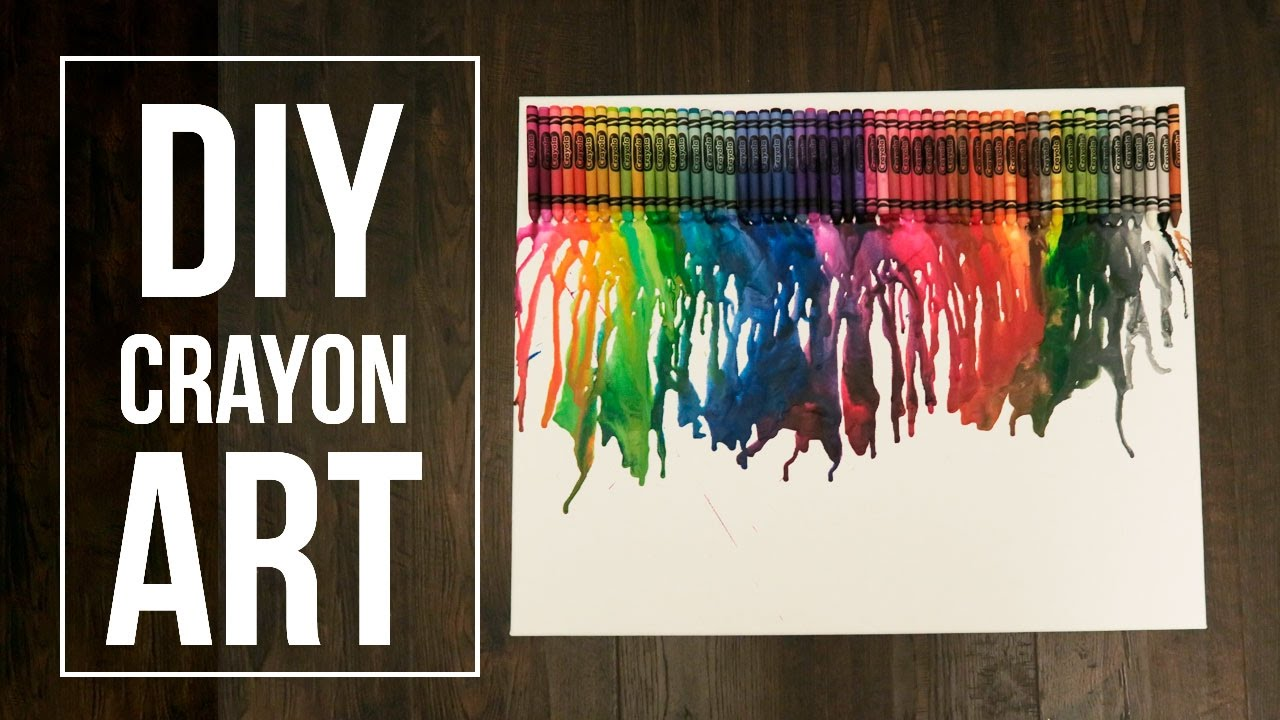 ️ DIY MELTED CRAYON ART - DO IT YOUSELF - YouTube