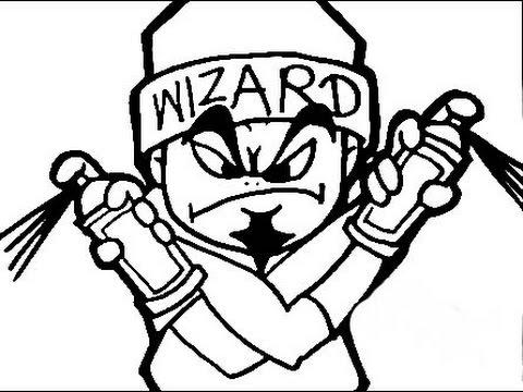 Como dibujar caricaturas de graffiti - Speed Drawing ...