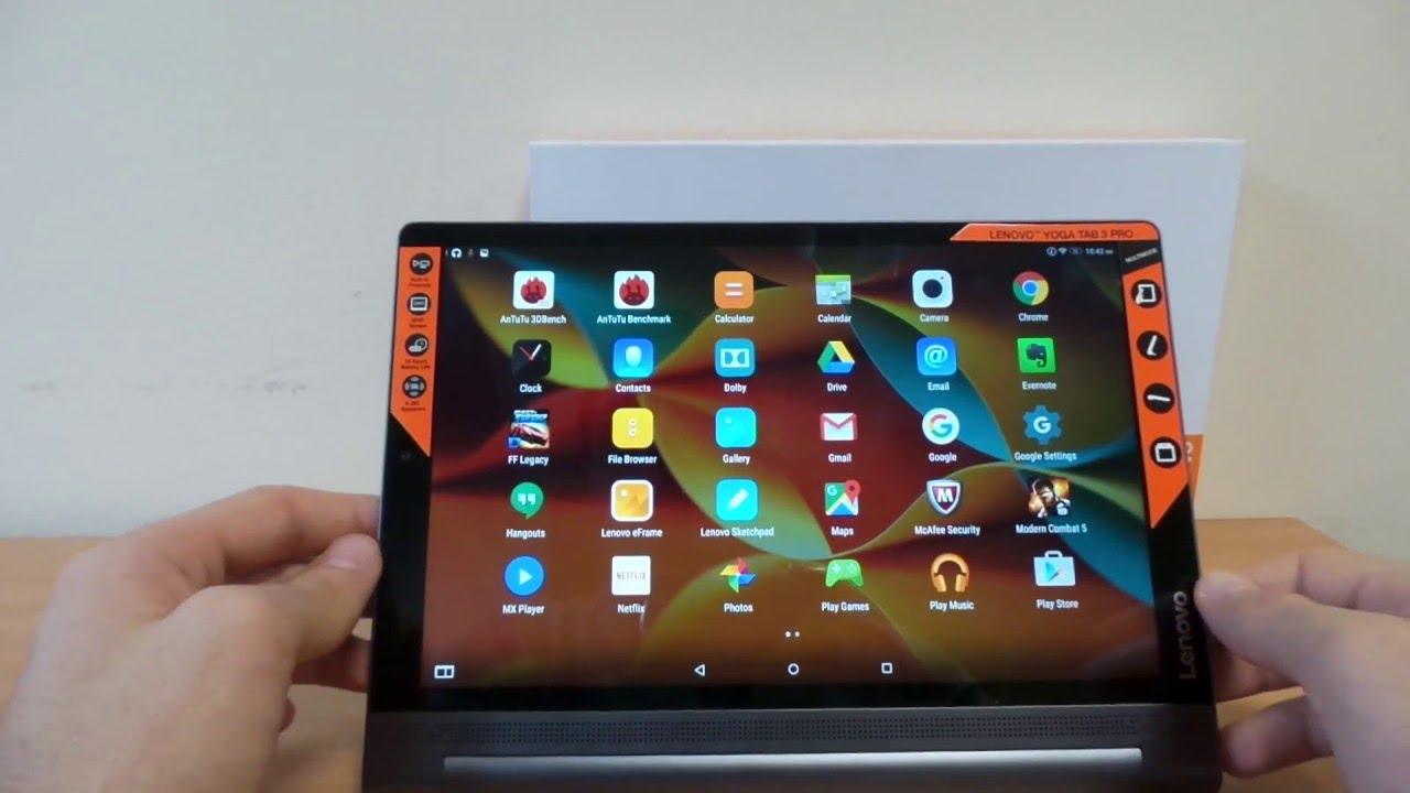 Lenovo Yoga Tab 3 Pro Android 5 1 Lollipop bemutató videó