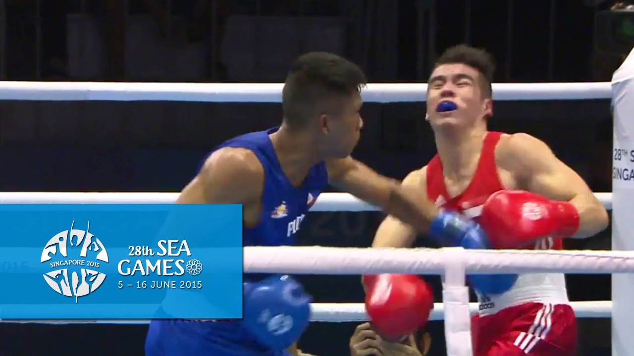 Boxing  Day 5  Men s Welterweight  69kg  Finals Bout 73   28th SEA     Boxing  Day 5  Men s Welterweight  69kg  Finals Bout 73   28th SEA Games  Singapore 2015   YouTube