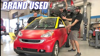 Repairing Our Wrecked Turbo K-Swapped SmartCar! +First Rip in Laz's Supercharged Truck
