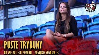 Puste trybuny na meczu Lech Poznań - Zagłębie Sosnowiec (12.08.2018 r.)
