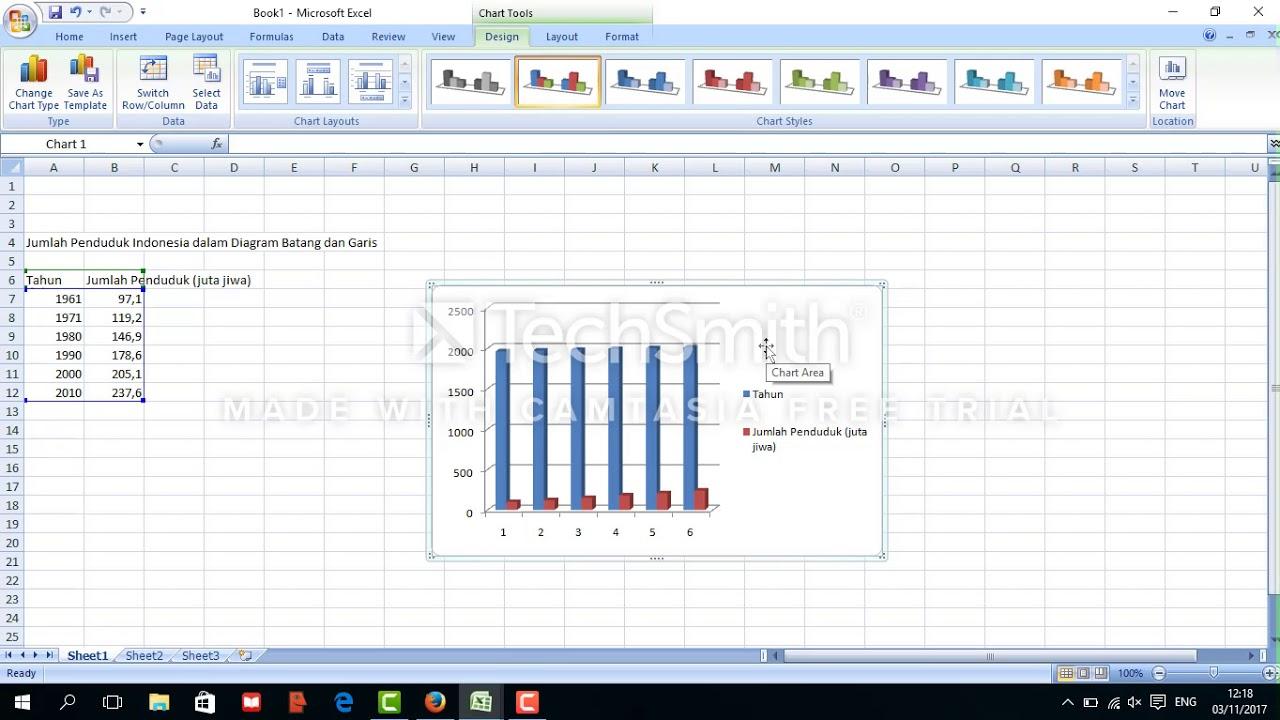 Freda cara membuat diagram garis dan batang youtube freda cara membuat diagram garis dan batang ccuart Choice Image