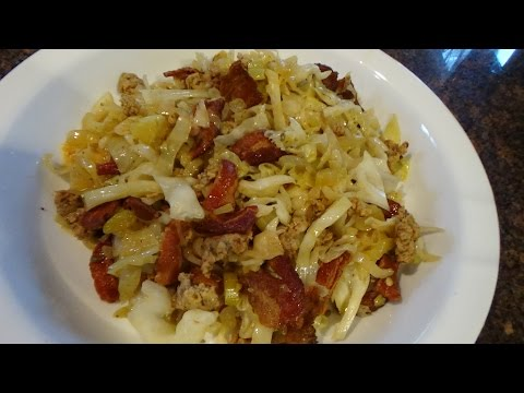 low-carb-bacon-cabbage-sausage