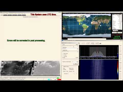 Live recording of NOAA 19 weather satellite via RTL-SDR