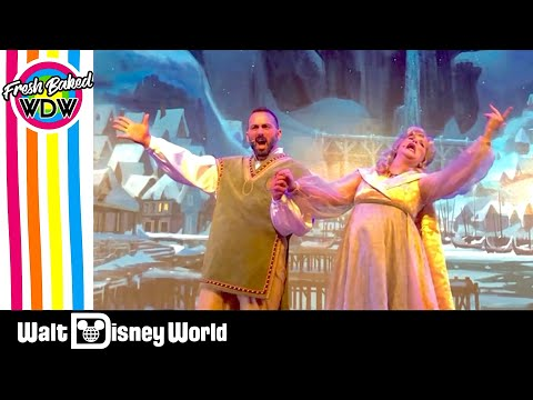 For the first time in forever frozen sing along disney world