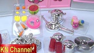 Đồ chơi trẻ em Bé Na nấu ăn bằng bếp Hello kitty Cooking with kitchen playset Childrens toys