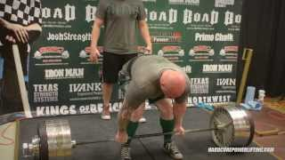 Jerame Linnell Tears Chest Muscle & STILL Raw Deadlifts 775 Pounds