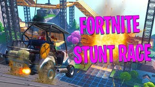 GEKKE STUNT RACE !! | Fortnite Creative #3 ft. Luka