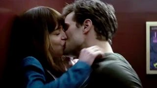 fifty shades of grey kiss scene