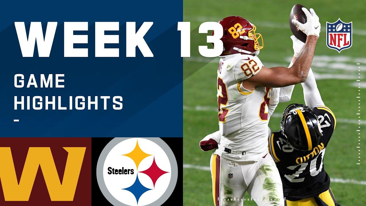 Washington Football Team vs. Steelers Week 13 Highlights | NFL 2020 – NFL
