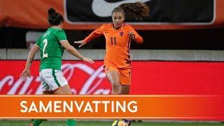 Highlights Oranjevrouwen - Ierland (28/11/2017)