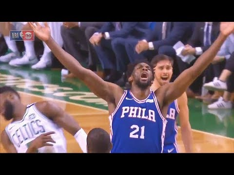 Download Youtube: Joel Embiid KNOCKS OUT Jaylen Brown with Celebration! Celtics vs 76ers January 18, 2018