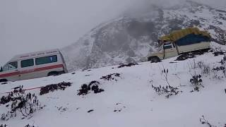 Tezpur to Tawang Road via Sela Pass in Snow