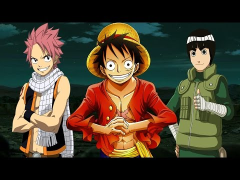 Luffy vs Natsu and Rock Lee YouTube