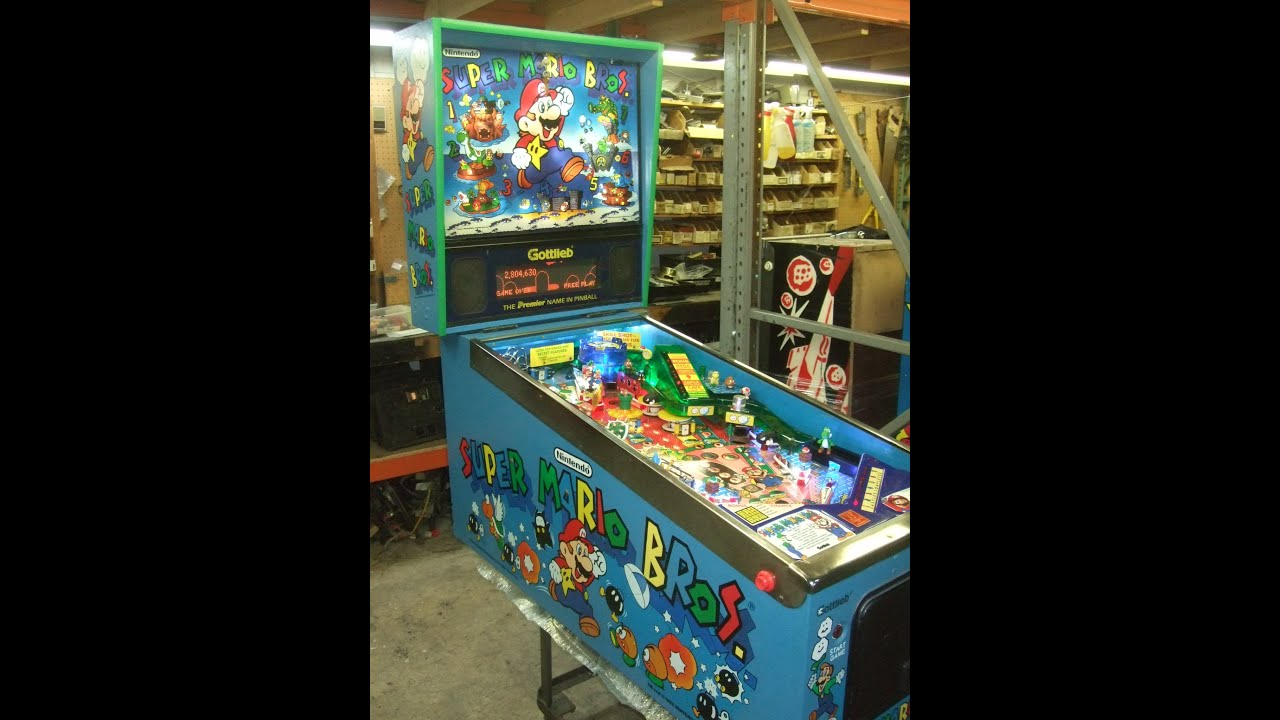 mario bros pinball machine