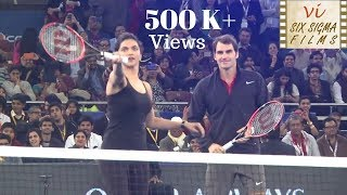 Deepika Padukone Plays Tennis With Novak Djokovic &  Roger Fedrer | Rare Footage | Six Sigma Films