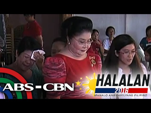 WATCH: Imelda Marcos casts vote in Ilocos Norte
