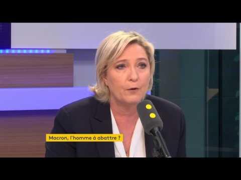 """Macron, Fillon et """"la grande finance"""" : accusation de Marine Le Pen"""